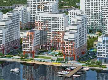 Внешнее оформление фасадов жилого комплекса River Park